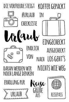 """Klartext-Stempelset A6 """"#Urlaub"""""""