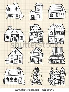 cute house draw