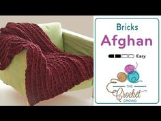 Crochet Bernat Bricks Blanket + Tutorial - The Crochet Crowd