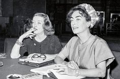 Davis and Crawford reading the script for What Ever Happened to Baby Jane? on July 16, 1962.