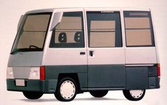 http://chicerman.com  carsthatnevermadeit:  Daihatsu HiJet Dumbo 1989. A boxy concept van based on the production HiJet mircovan. Daihatsu is actually Japans oldest car manufacturer and was this past week taken over by Toyota (who previously held a major shareholding)  #cars