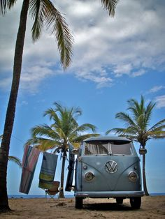 wonderful #vw bus on the beach!  | re-pinned by http://about.me/southfloridah2o