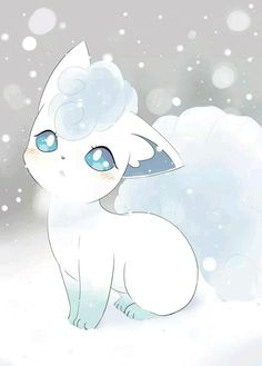 Alolan Vulpix is SO ADORABLE, i love ice types and think they des. - Alolan Vulpix is SO ADORABLE, i love ice types and think they deserve more of a spotlight as they are often get put to one side for other types of Pokemon… Pet Anime, Anime Animals, Anime Art, Cute Animal Drawings, Kawaii Drawings, Cute Drawings, Sun Pokemon, Pokemon Fan Art, Pokemon Tattoo