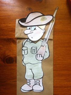 ANZAC Day Paper Bag Puppet (Craft Activity)