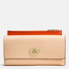 The Slim Envelope Wallet With Pop-up Pouch In Crossgrain Leather from Coach