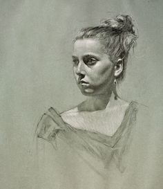 Daniel Bilmes (charcoal and chalk on toned paper)