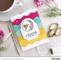 Pretty Pink Posh, Coffee Cards, Miss You Cards, Card Making Tutorials, Bird Cards, Cricut Creations, Card Maker, Crafty Projects, Cute Cards