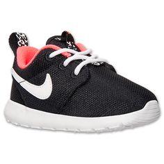 Girls' Toddler Nike Roshe Run Casual Shoes| Finish Line | Black/White/Hyper Punch