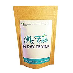 Detox Tea (14 Day Cleanse) w/ B12 by Me Tea|Cleansing & Weight Loss Herbal Teatox for the Perfect Body|Boost Metabolism & Increase Energy w/ 100% Natural, Premium Black Japanese Tea|Best Vegan Formula *** Find out more about the great product at the image link.