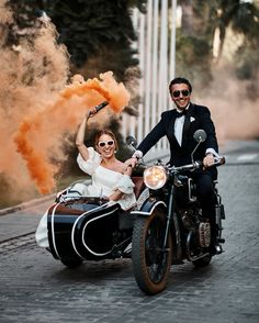 Go inside this couple's destination wedding in Seville, Spain, complete with traditional music, flamenco dancers, and a heart-shaped custard cake. Wedding Photos, Wedding Day, Vespa Wedding, Motorcycle Wedding, Edgy Wedding, Wedding Nails, Wedding Bride, Wedding Reception, Flamenco Dancers