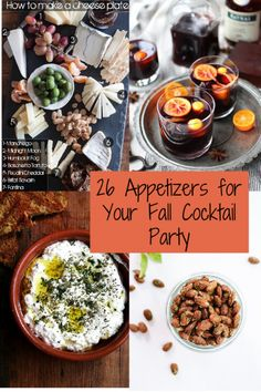 Try these healthy appetizer recipes: 26 Appetizers for Your Fall Cocktail Party