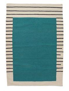 Aelfie Suzanne Flat Weave Rug, Teal
