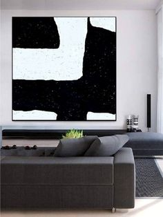 Black and White Abstract Painting Minimalist Art, Modern Wall Art Decor, Original Textured Painting on Canvas Painted by Alexsandr Speshilov Modern Office Decor, Pvc Tube, Black And White Abstract, Different Textures, Texture Painting, Minimalist Art, Modern Wall Art, Wall Art Decor, The Originals