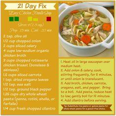 21 day fix chicken noodle soup