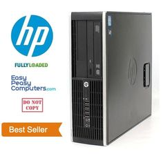 Computers for Sale - HP Desktop Computer Windows 10 PC WiFi 4GB RAM 1TB HDD DVD WIFI (FULLY LOADED) #HP