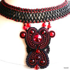 art, crafts and beads: Black, Red and Purple- Soutache