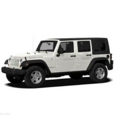 White four door Jeep Wrangler. I would add black wheels to this.