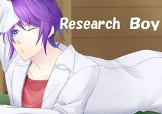 **Research Boy**  Share = Kyaaaaaaa!!!! Like = Cooool!!! Please share your opinion!  An original character by illustrator, Misaki. (No plans to write a scenario about this character. YET.)  #koyonplete #otome #otomegame