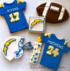 San Diego Chargers cookies