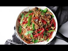 This asian inspired vegan teriyaki noodle and stir-fry is dairy and gluten-free full of delicious veggies and will be sure to wow your friends and family!