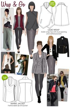 Wrap & Go Style Arc - lots of patterns/unusual details etc