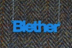 Blether Necklace by Bonnie Bling. Made in Scotland - on the beautiful Isle of Bute to be exact and available in the Tartan Week.com Shop.