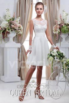 Simple Vestido de Boda Blanco Corto Vestido De Noiva Curto Renda Vestidos de Novia Vestidos de Novia Vestido De Noiva Curto C20 en Vestidos de novia de Bodas y Eventos en AliExpress.com | Alibaba Group