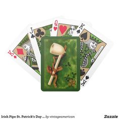 Irish Pipe St. Patrick's Day Playing Cards