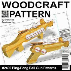 Sherwood Creations wood working plan for ping pong gun