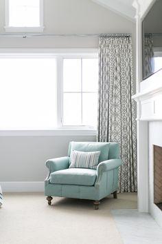 Bedroom draperies. The bedroom draperies were custom made. Bedroom draperies. Bedroom draperies #Bedroom #draperies Churchill Design