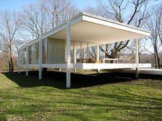 Farnsworth House. 1950. Plano, Illinois. Mies Van Der Rohe.