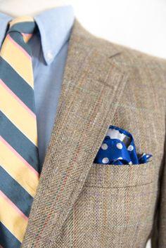 Mens Preppy Jacket Wool Blend Two Button Plaid 38S / Suit Coat / Sports Coat