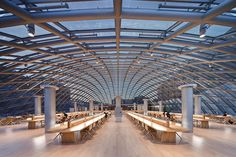 Joe and Rika Mansueto Library, University of Chicago, Chicago 18 Stunning University Libraries Around the World You Need to See Photos Library University, Chicago University, Chicago Chicago, Chicago Illinois, Modern Library, Library Design, Library Architecture, Modern Architecture, Public Architecture
