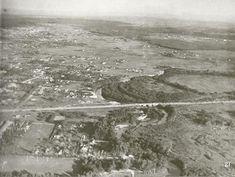 Avenida e ponte Cidade Jardim, em foto de 1930.