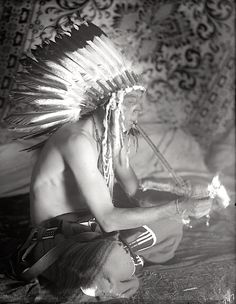 Henry Pretty on Top. Crow. Montana. Early 1900s. Photo by Richard Throssel.