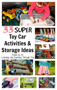 Learning and Exploring Through Play: Toy Car Activities and Storage Ideas Activities For 6 Year Olds, Creative Activities, Therapy Activities, Classroom Activities, Learning Activities, Sorting Activities, Play Based Learning, Learning Through Play, Kids Learning