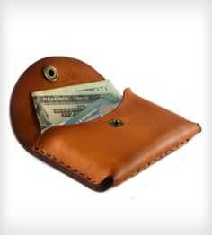 Small Leather Pocket Wallet   Men's Accessories   The Leather Shop   Scoutmob Shoppe   Product Detail