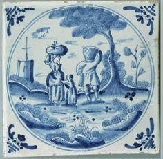 Antique delft tiles - Stock - Moxhams Antiques
