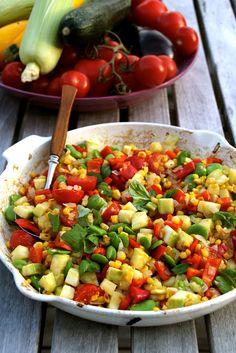 Lun salat med mais og bønner - Mat på bordet