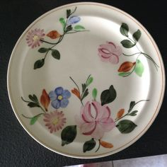 Blue Ridge Pottery plate. I think this may be the Jessica pattern.