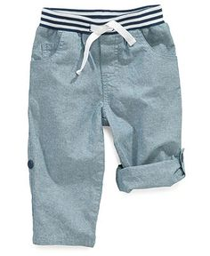 First Impressions Baby Playwear, Baby Boys Chambray Convertible Pants - Kids Shop All Baby - Macy's
