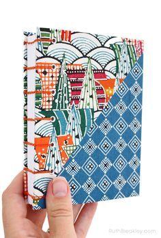 Hidden Cities Katazome Journal handmade by Ruth Bleakley