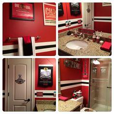 Check out this #Blackhawks bathroom!                                                                                                                                                      More