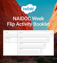 Use this flip book template for your students to create an eye-catching booklet about NAIDOC Week. Flip Book Template, Naidoc Week, Flipping, Booklet, Students, Templates, Teaching, Activities, Eye