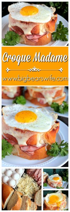 Love ham and cheese? I've got your new favorite sandwich ready for you!  The perfect Croque Madame. http://www.bigbearswife.com/easy-croque-madame-recipe/