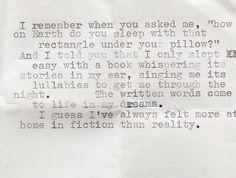 Book under my head. I do it quite often.