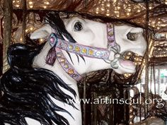 Haunted Carousel Horse Photograph Art print Art by ArtInSoulorg