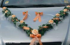 Autoschmuck,Autogirlande Hochzeit 3tlg apricot creme Tischdekoration Girlande     eBay