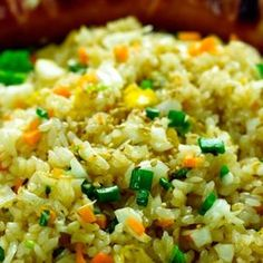 "Opekaná ryža s vajcom ""Kao Pad Kai"" Asia Food, Fried Rice, Food And Drink, Sushi, Snacks, Meals, Dinner, Ethnic Recipes, Kitchen"