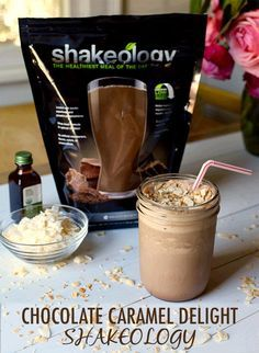 This Chocolate Caramel Delight Smoothie recipe tastes like one of your favorite Girl Scout cookies, but it's so healthy that you can enjoy it without sabotaging your diet. Get the Shakeology recipe here! // Beachbody // BeachbodyBlog.com